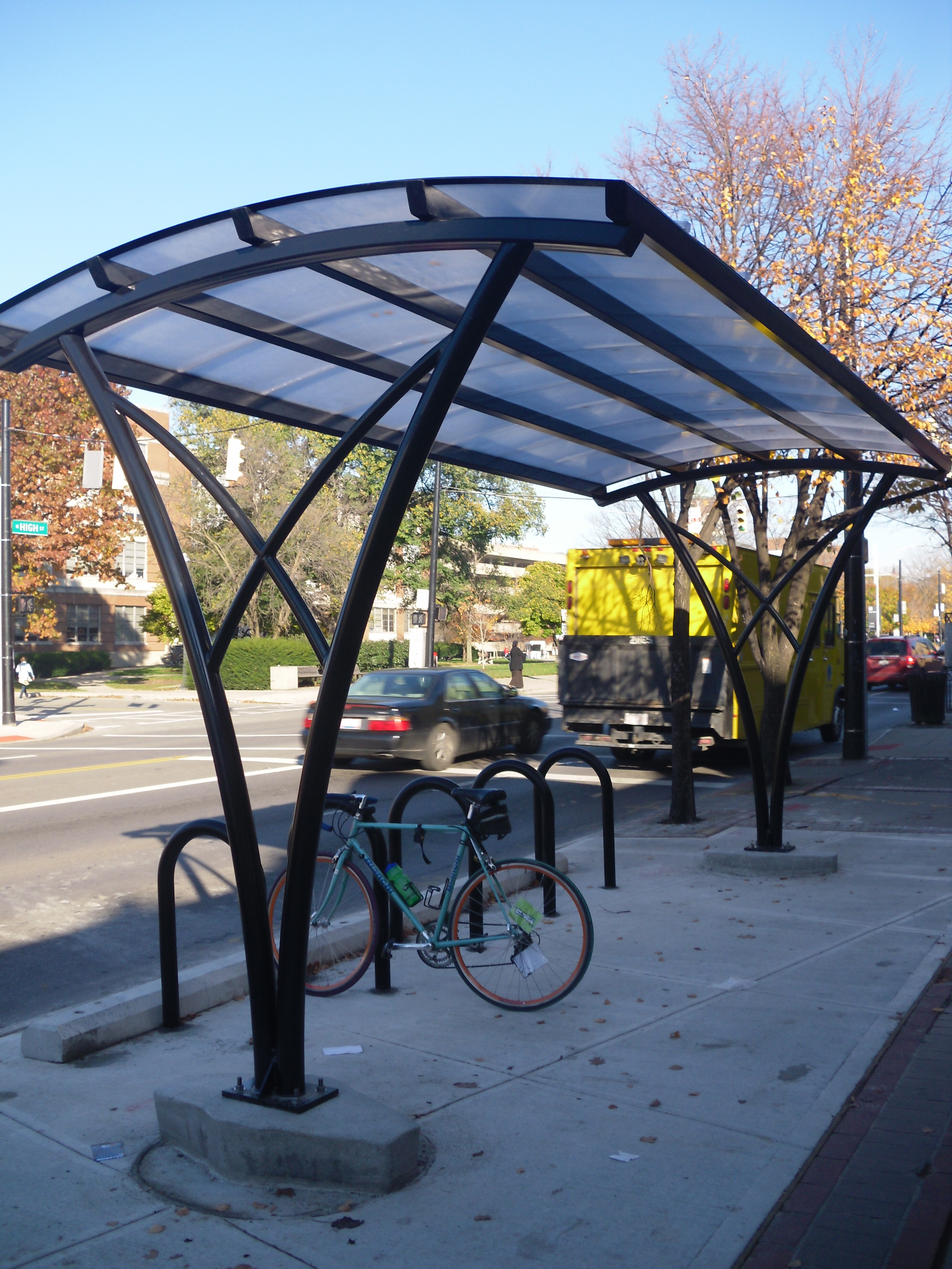 Covered Bike Shelters : Covered bike shelter cbus cycle chic
